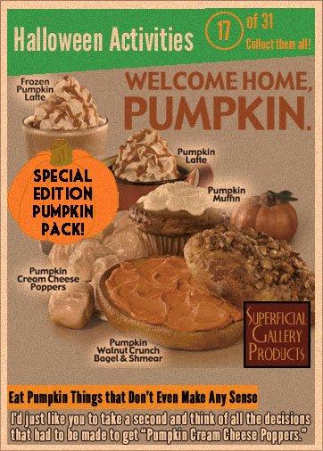 Halloween Activities Card 17 Eat Pumpkin Things That Don't Make Any Sense