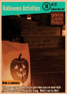 Halloween Activities Card 18 Make a Luminaria