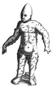 vintage monster engraving