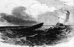 From the Illustrated London News, 14 April 1849 (Supposed Appearance Of The Great Sea-Serpent, From H.M.S. 'Plumper,' Sketched By An Officer On Board)