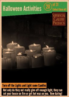 Halloween Activities Card 20 Light Some Candles