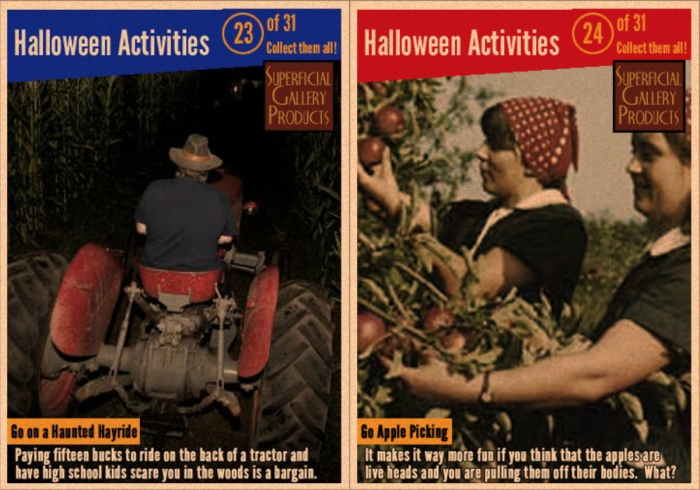Halloween Activities Card 23 and 24 Go on a Haunted Hayride Go Apple Picking