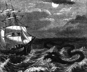 Nineteenth century sea serpent.