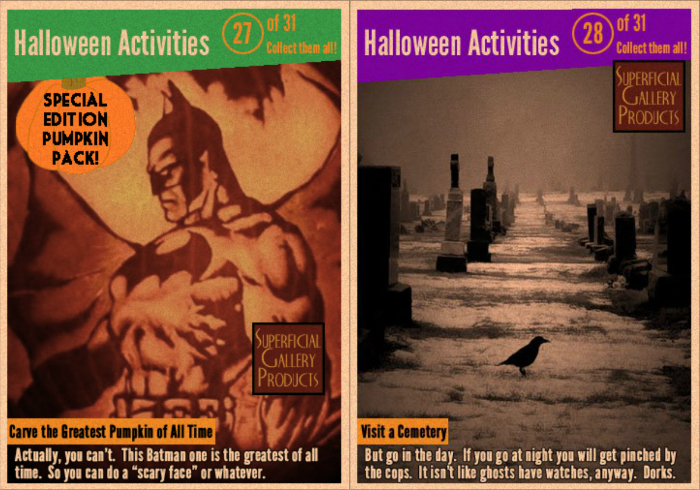 Halloween Activitie Cards 27 and 28