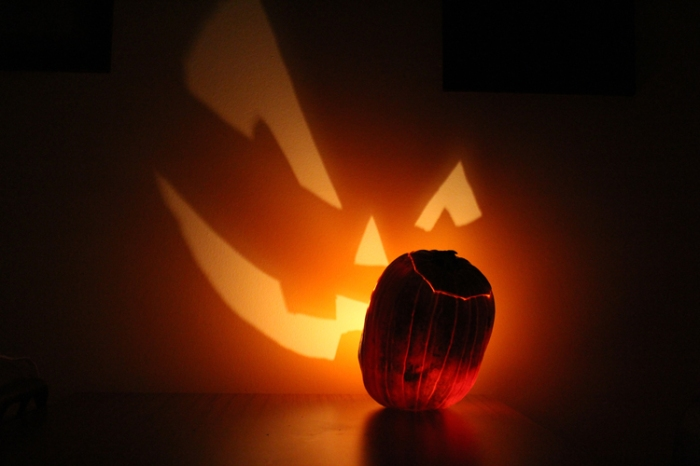 Pumpkin Projection Photographed by Matthew Gordon October 2010 via Wikipedia