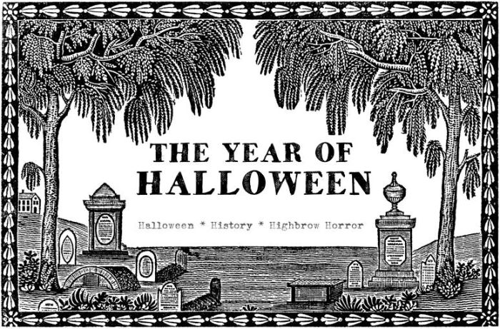 The Year of Halloween Logo Stamp