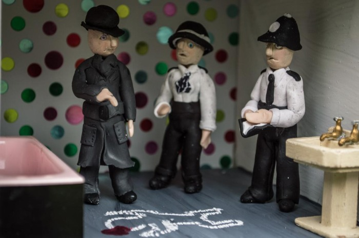 Halloween Murder Scene Diorama by Madeleine Swann