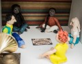 Ouija Board Scene, Apartment Block of Horror Diorama by Madeleine Swann