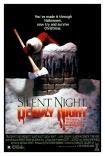 1984 horror cult classic Silent Night, Deadly Night, Burt Kleeger poster design