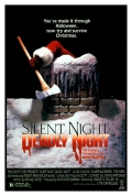 1984 horror cult classic Silent Night, Deadly Night, Burt Kleeger poster design