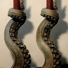 Bronze Finish Tentacle Candleholders