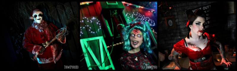 Creatures at a NOT SO MERRY CHRISTMAS – SINISTER POINTE via Theme Park Adventure