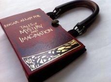 Handmade Edgar Allen Poe Book Purse by Novel Creations