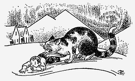 Jólakötturinn Icelandic Christmas Cat illustrated by Þórdís Tryggvadóttir