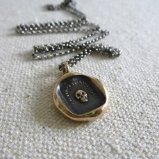 Skull Momento Mori Necklace by Etsy Seller Plum and Posey Inc