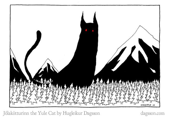 Yule Cat by Hugleikur Dagsson