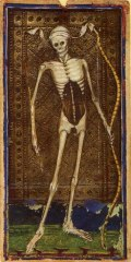 Death card from the Visconti Tarot deck 1455