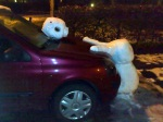 Calvin and Hobbes Inspired Snowman Accident by Pip via Uproxx
