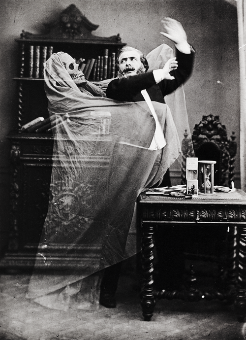 "Eugene Thiebault-"" Henri Robin and a Specter"" 1863"