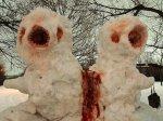 Horrifying Conjoined Alien Snow Monsters via College Humor