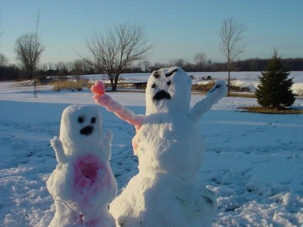 scary snowman sacrifice via the chive