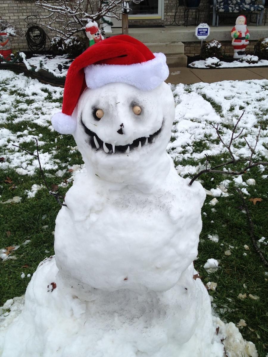 Scary Snowman Wallpaper
