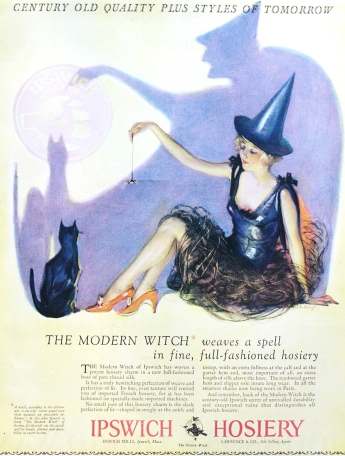 Silk stockings ad from Ipswich Hosiery, 1927 via Smithsonian Magazine