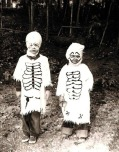 Handmade skeleton costumes, 1951 via Smithsonian Mag