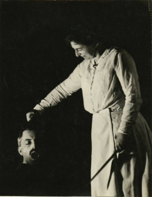 István Kerny and his wife - Judith and Holofernes, 1912
