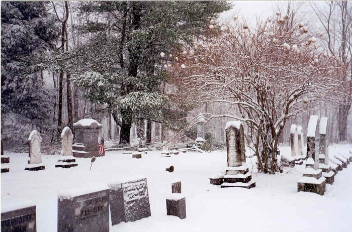 Mountain Ash Cemetery, Laporte, PA, Winter 2003, photo Taken by Deb Wilson