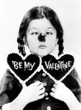 Valentine featuring Lisa Loring as Wednesday Addams, c. 1965.