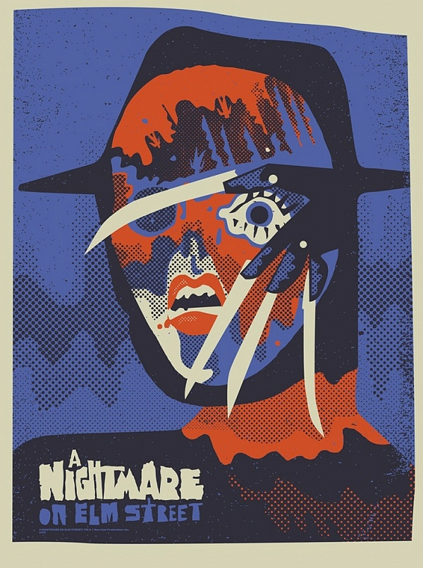 Nightmare on Elm Steet by We Buy Your Kids for the 2012 art show Mondo Gallery Presents