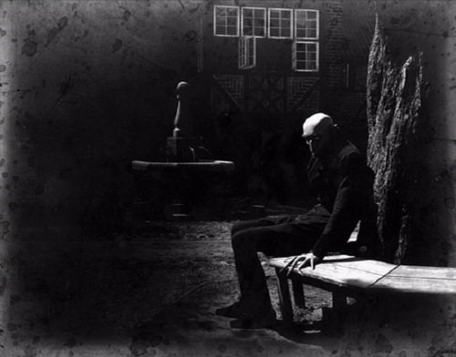Max Schreck on the set of Nosferatu in 1922