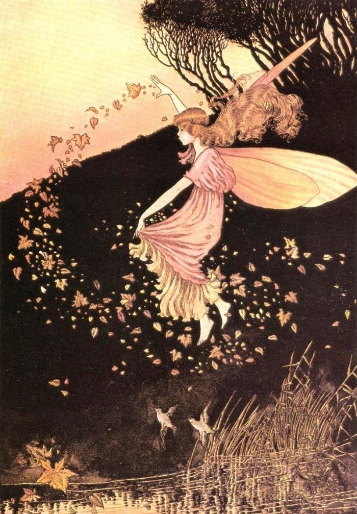 Autumn Fairy by Ida Rentoul Outhwaite 1916
