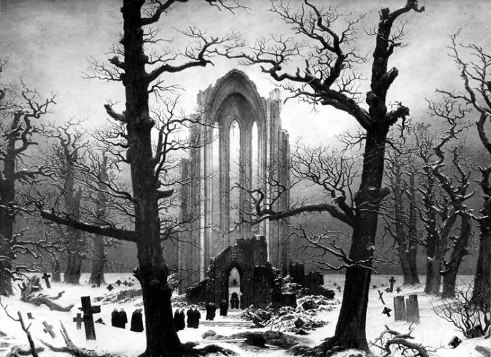 Caspar David Friedrich Monastery Graveyard in the Snow 1817-19