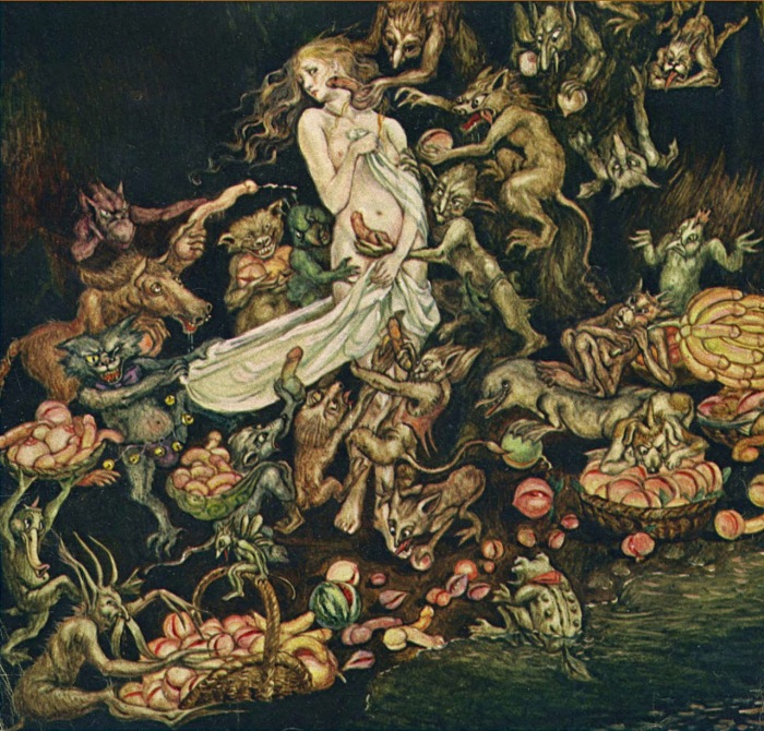 Illustration by Kinuko Craft for the September 1973 Playboy feature Goblin Market A Ribald Classic