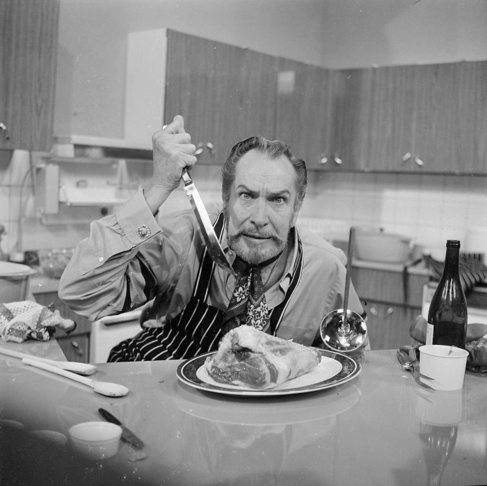 Vincent Price promotional photo 1970 Cooking Price Wise