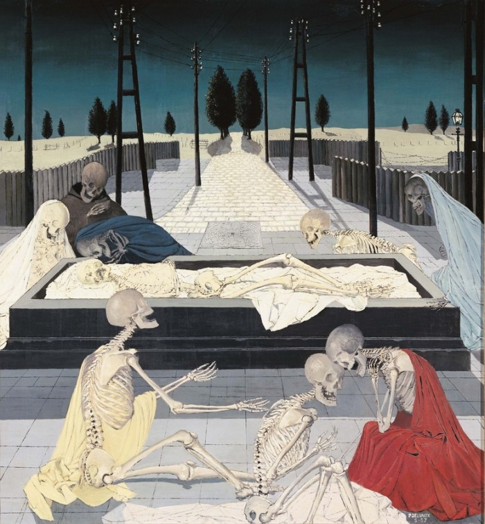 The Entombment III Paul Delvaux 1957