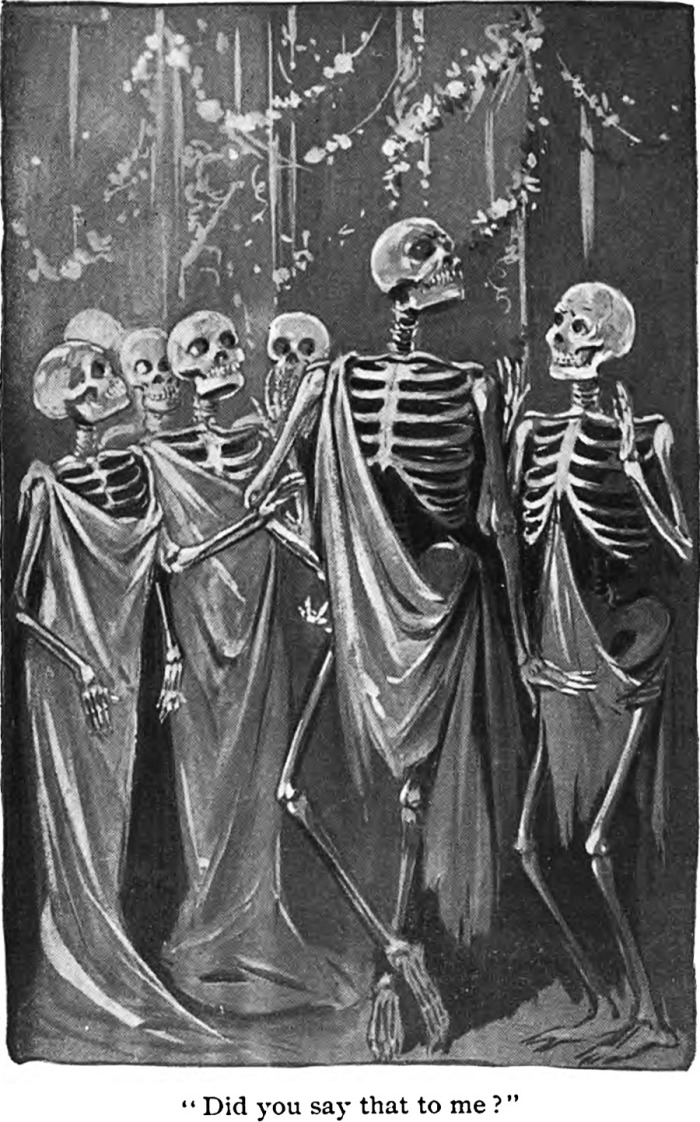 Did you say that to me an illustration from The Sociable Ghost by Olive Harper, 1903