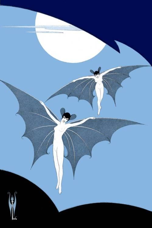 Vampires, by graphic artistSergei Pavlovich Lodygin, 1916evahalloween
